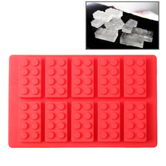 Building Block Shaped Silicon Ice Cube Tray / Ice Mold