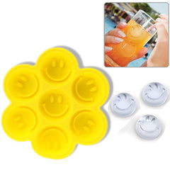Silicon Ice Cube Pattern Tray / Ice Mold with Smile (Yellow)