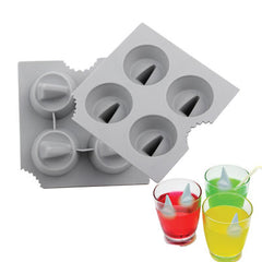Novelty Shark Fin 4-Grid Ice Cube Tray (Random Color Delivery)