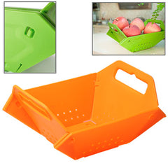Plastic Folding Fruit Basket (Orange)