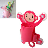 Red Big Belly Naughty Monkey Toothbrush Holder(Red)