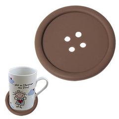 Personality Anti-skid Buttons Coasters (Coffee)