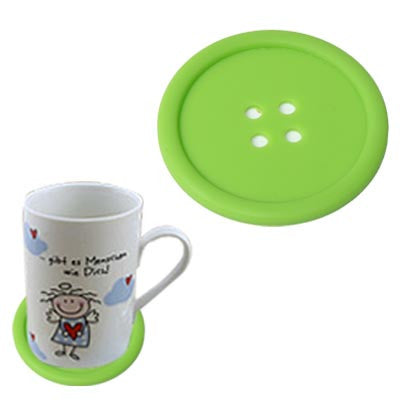 Personality Anti-skid Buttons Coasters (Green)
