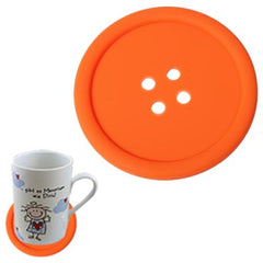 Personality Anti-skid Buttons Coasters (Orange)