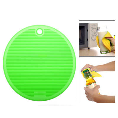 Round Shape Multifunction Anti-slip & Heat-insulated Mat (Light Green)