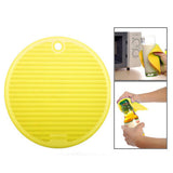 Round Shape Multifunction Anti-slip & Heat-insulated Mat (Yellow)