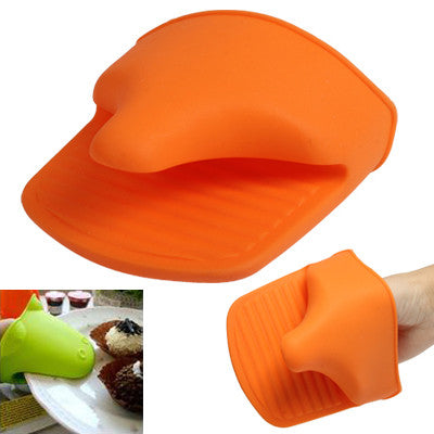Convenient Heat-insulated Single Glove Safe Hand Pad Kitchen Tool (Random Color Delivery)