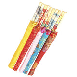 Five Pairs of Wood Chopsticks with Silk Bag