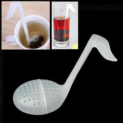 Modern Design Jumping Musical Note Plastic Tea Herb Filter Infuser Strainer Teabag Random Color Delivery
