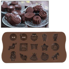 Cartoon Style Silicon Chocolate Mold Cake Mold