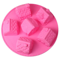 Cute House Style Silica Gel Fondant Cake Mold (Random Color Delivery)