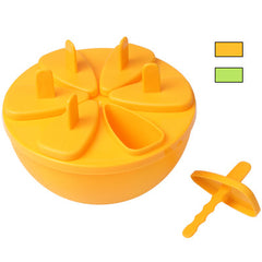 Orange Style Popsicle Ice Lolly Ice Cream Bar Mold Maker with Six Sticks (Random Color Delivery)