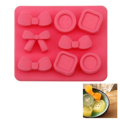 Creative Bowknot & Button Shape 8-Grid Ice Cube Tray
