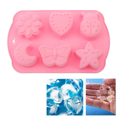 Creative Cartoon Shape 6-Grid Ice Cube Tray