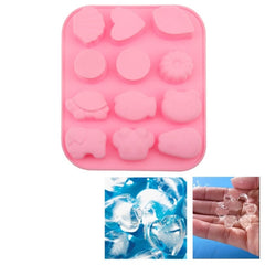 Creative Variety Shape 12-Grid Ice Cube Tray