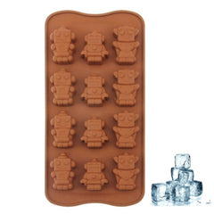 Lovely Robot Shape 12-Grid Ice Cube Tray