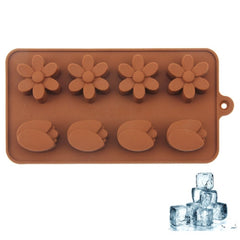 Lovely Flower Shape 8-Grid Ice Cube Tray