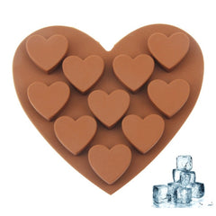 Lovely Heart Shape 10-Grid Ice Cube Tray