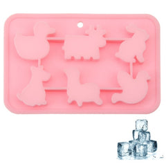Lovely Animal Shape 6-Grid Ice Cube Tray