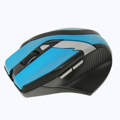2.4GHz Wireless Optical Mouse with Embedded USB Receiver(Blue)