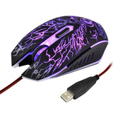 Estone X5 USB 6 Buttons 3600 DPI Wired Optical Gaming Mouse for Computer PC Laptop(Black)