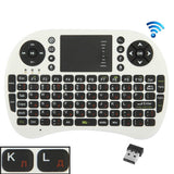 UKB-5400-RF 2.4GHz Mini Wireless Keyboard Mouse Combo with Touchpad & USB Receiver English Keyboard / Russian Keyboard (White)