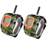 462MHz-467MHz Freetalker Watch Walkie Talkie Up to 6km of Range 2pcs in one packaging the price is for 2pcs Only US Plug (Camouflage)