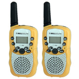 2 PCS T-388 0.5W 1.0 inch LCD 5KM Walkie Talkie(Yellow)