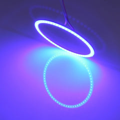 100mm 5W 180LM Angel Eyes Circles Car Headlight Blue Light COB LED Lights for Vehicles DC 12-24V
