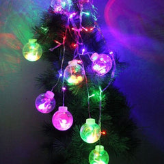 2m 56 LED RGB Light Lantern Wish Fairy Ball Light String Decoration Light for Christmas Party 220-240V EU Plug