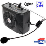 Multi-functional Portable Waistband Amplifier Speaker with MP3 / USB Slot / FM / U Disk Function and Headset Microphone Support TF Card(Black)