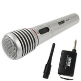Handheld Wireless / Wired Microphone with Receiver & Antenna Effective Distance: 15-30m