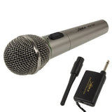Handheld Wireless / Wired Microphone with Receiver & Antenna Effective Distance: 8-20m
