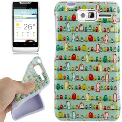 Birds Pattern TPU Case for Motorola RAZR D1 / XT918