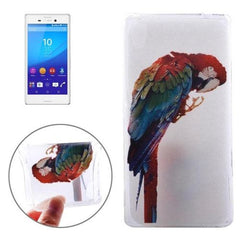 0.3mm Ultra-thin Parrot Pattern TPU Protective Case for Sony Xperia M4 Aqua