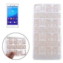 0.3mm Ultra-thin Elephant Pattern TPU Protective Case for Sony Xperia M4 Aqua