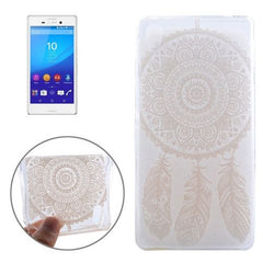 0.3mm Ultra-thin Feather Cap Pattern TPU Protective Case for Sony Xperia M4 Aqua