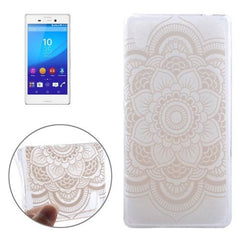0.3mm Ultra-thin Flower Pattern TPU Protective Case for Sony Xperia M4 Aqua