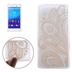 0.3mm Ultra-thin Seaweed Pattern TPU Protective Case for Sony Xperia M4 Aqua