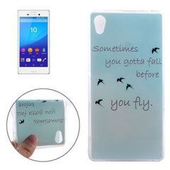 0.3mm Ultra-thin Birdies Pattern TPU Protective Case for Sony Xperia M4 Aqua