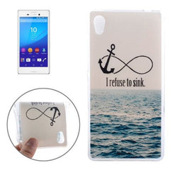 0.3mm Ultra-thin Anchor Pattern TPU Protective Case for Sony Xperia M4 Aqua