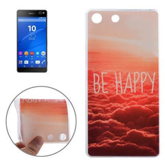 0.3mm Ultra-thin BE HAPPY Pattern TPU Protective Case for Sony Xperia M5