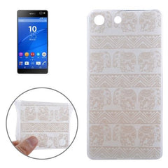 0.3mm Ultra-thin Elephant Pattern TPU Protective Case for Sony Xperia M5