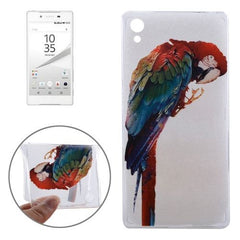 0.3mm Ultra-thin Parrot Pattern TPU Protective Case for Sony Xperia Z5