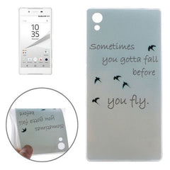 0.3mm Ultra-thin Birdies Pattern TPU Protective Case for Sony Xperia Z5