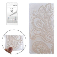 0.3mm Ultra-thin Seaweed Pattern TPU Protective Case for Sony Xperia Z5