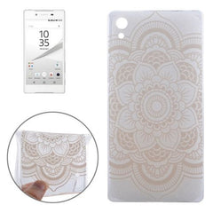 0.3mm Ultra-thin Flower Pattern TPU Protective Case for Sony Xperia Z5
