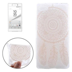 0.3mm Ultra-thin Feather Cap Pattern TPU Protective Case for Sony Xperia Z5 Compact