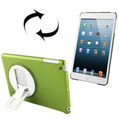 270 Degree Rotation Scrub Translucent Plastic Case with Adjustable Holder for iPad mini 1 / 2 / 3(Green)