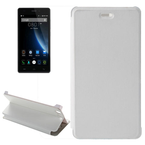 Horizontal Flip Leather Case with Holder for Doogee X5 / X5 Pro (S-MPH-1005 & S-MPH-1080)(White)